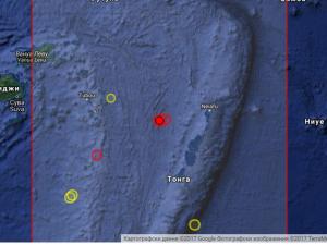 Земетресение с магнитуд 5,6 по Рихтер разтърси Тихия океан