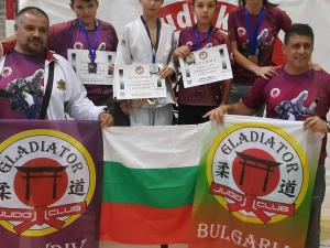 Джудо клуб Гладиатор с 9 медала от международни турнири в чужбина и България