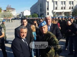 Тържествен строй в центъра на Пловдив! Валери Симеонов е на празника на парашутистите СНИМКИ