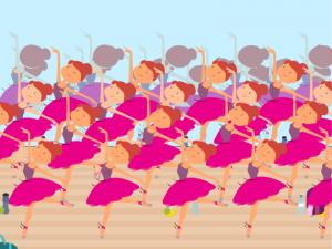 Предизвикателен пъзел! Можете ли да откриете разликата в балерините?