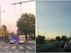 Катастрофа затруднява движението в Кючука, тапа блокира Кукленско