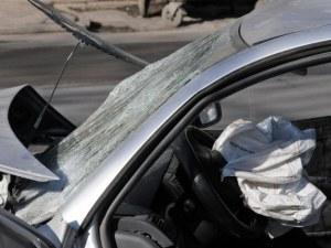 Шофьор се озова в болница след верижна катастрофа в Пловдивско