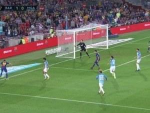 Испания побесня от първия гол на Барса срещу Малага
