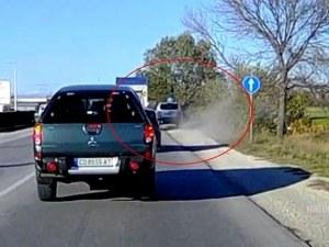 Кандидат-самоубиец с безумно изпреварване край Пловдив ВИДЕО