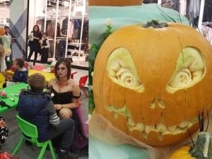 Страховити тикви посрещнаха пловдивчани в мола, деца се превръщат в любимите си герои СНИМКИ