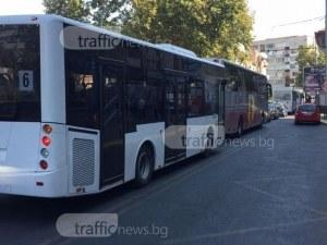 Автобуси от градския транспорт с делнично разписание в събота