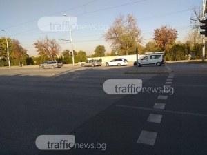 Две комбита се удариха на Цариградско шосе СНИМКИ