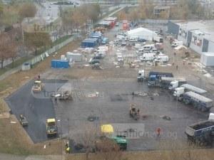 Офанзива в Тракия! Повторно асфалтират паркинга на Кауфланд след инспекция от Германия СНИМКИ
