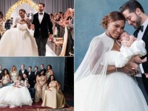 Бляскаво празнуване: Първите снимки на Серина Уилямс в сватбена рокля СНИМКИ
