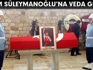 Почетен караул до ковчега на Наим Сюлейманоглу
