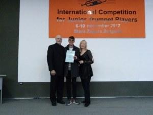 Пловдивски тромпетист взе две награди от престижни конкурси