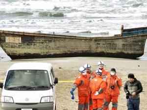 Дървена лодка с 8 скелета бе изхвърлена на бряг в Япония