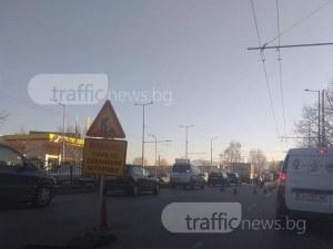 Зверско задръстване затапи Кукленско шосе СНИМКИ