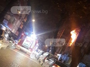 Мъж загина при пожар в центъра на Пловдив! Пожарникарите спасиха четири души СНИМКИ