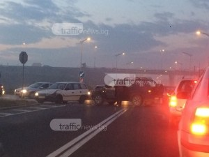 Катастрофа затапи един от изходите на Пловдив СНИМКИ