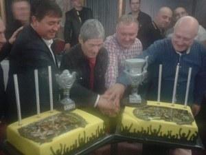 Три торти и две купи на коледния купон на Ботев СНИМКИ