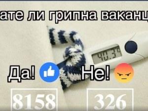 """Искате ли грипна ваканция? Над 8000 отговарят """"да""""! Само 300 не искат СНИМКИ"""