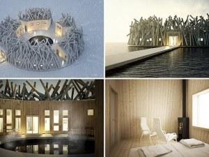 Създадоха хотел, който лятото плава по река, а зимата засяда в леда