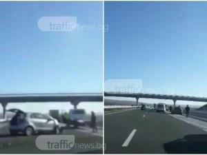 Катастрофа затруднява движението на магистрала Тракия