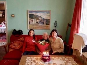 Пловдивчанка празнува 100-годишен юбилей СНИМКИ