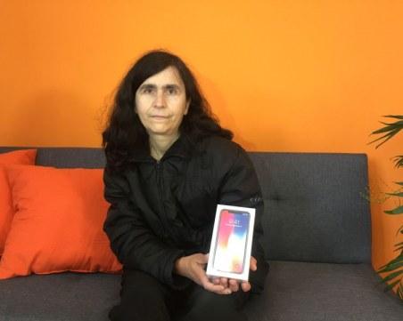 Мечтата на жена се сбъдна и спечели телефона на бъдещето ВИДЕО