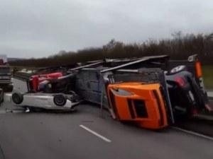 Гледаш и плачеш: коли за милиони се разбиха на магистрала ВИДЕО