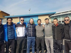 Треньор на Локо се срещна с наставника и с легендата на Еспаньол СНИМКИ