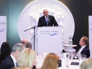 Бойко Борисов в Мюнхен: Време ни е и за еврозоната, и за Шенген