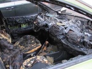 Трагедия: Мъж изгоря в колата си на черен път
