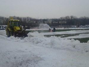 Офанзива по почистването на Лаута за дербито Локо - Ботев СНИМКИ