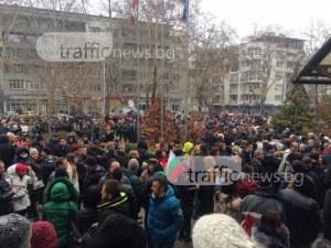 Колона от таксита на протеста в подкрепа на доктора ВИДЕО