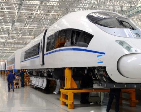 Влак на бъдещето премина успешен тест в Китай