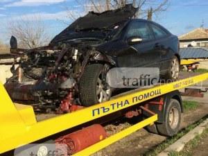 Автомобилът на музиканта, ударил прасета на Тракия, е напълно смачкан СНИМКИ