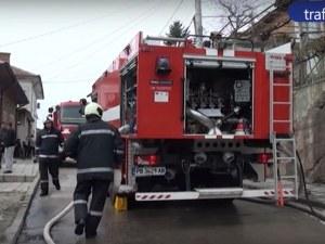 41-годишна жена в инвалидна количка пострада тежко при пожар ВИДЕО