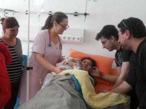 Жена с церебрална парализа стана майка на момче