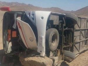 Пясък на пътя е причината за обърналия се автобус с българи в Египет