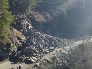 Започва укрепване на свлачището, което затвори пътя между Смолян и Мадан