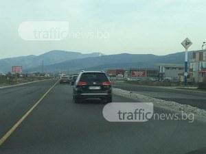 Пловдив - Асеновград е тапа, колите пъплят с 10 километра в час СНИМКИ