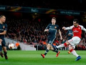 Арсенал помете ЦСКА за едно полувреме, вижте резултатите в Лига Европа
