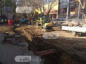 """Няма надежда ремонтът на кръстовището на """"Руски"""" и """"Гладстон"""" да се завърши в срок СНИМКИ"""
