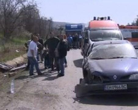 Жена с рено е предизвикала мелето на магистралата между Пловдив и София