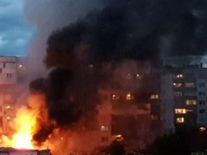 Огромен пожар избухна в София! Коли и дървета изгоряха за секунди ВИДЕО