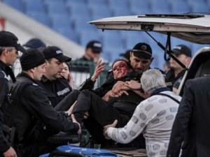 """Тежки санкции грозят """"Левски"""" заради ранената полицайка"""