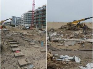 Разрушиха голям плажен ресторант в Слънчев бряг СНИМКИ