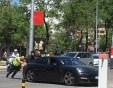Порше закъса в Кючука!Полицаи бутат лъскавото возило, зад волана - жена СНИМКА