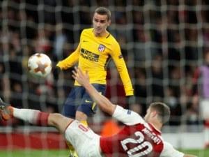 Атлетико Мадрид излъга Арсенал с 10 души