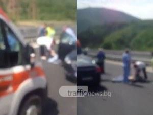 33-годишен моторист загина на магистрала Тракия ВИДЕО