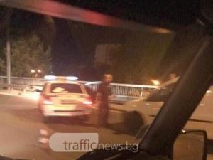 Закопчаният на надлез Родопи бил дрогиран, спретнал си гонка с полицията СНИМКИ