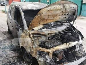 Лек автомобил избухна в пламъци край Пловдив
