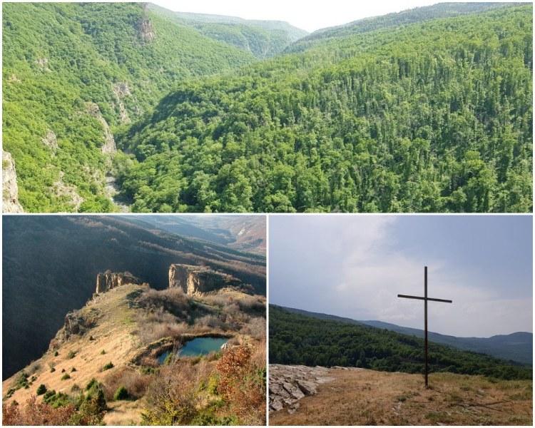 Живописен каньон, скални рифове и самотен кръст само на 15 км от Пловдив СНИМКИ